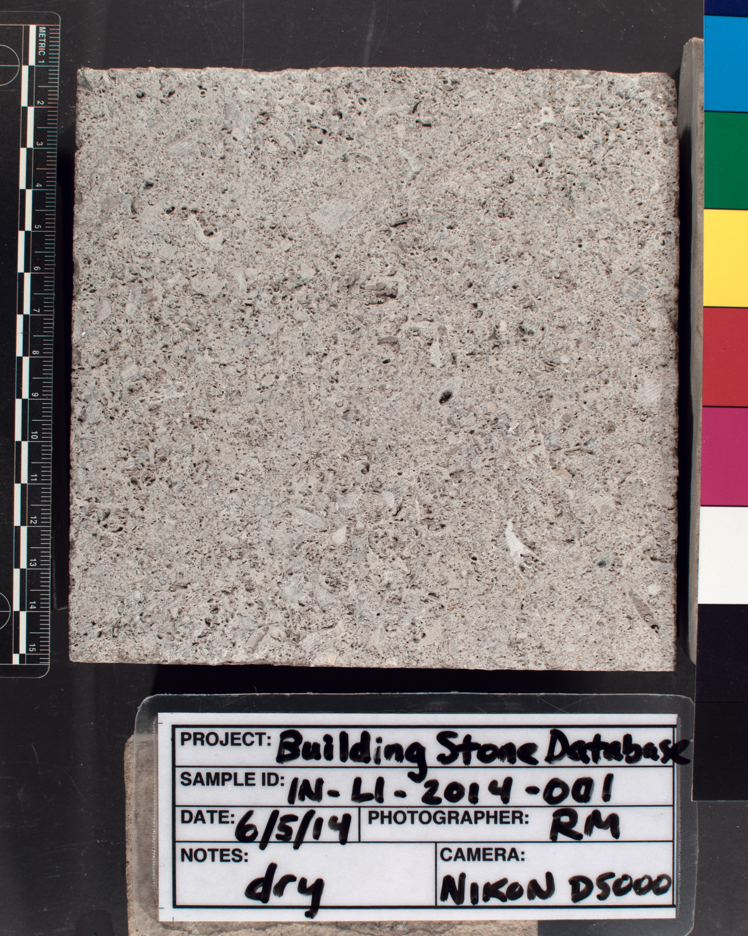 Image of specimen in dry conditions. Finish: Smooth sawn