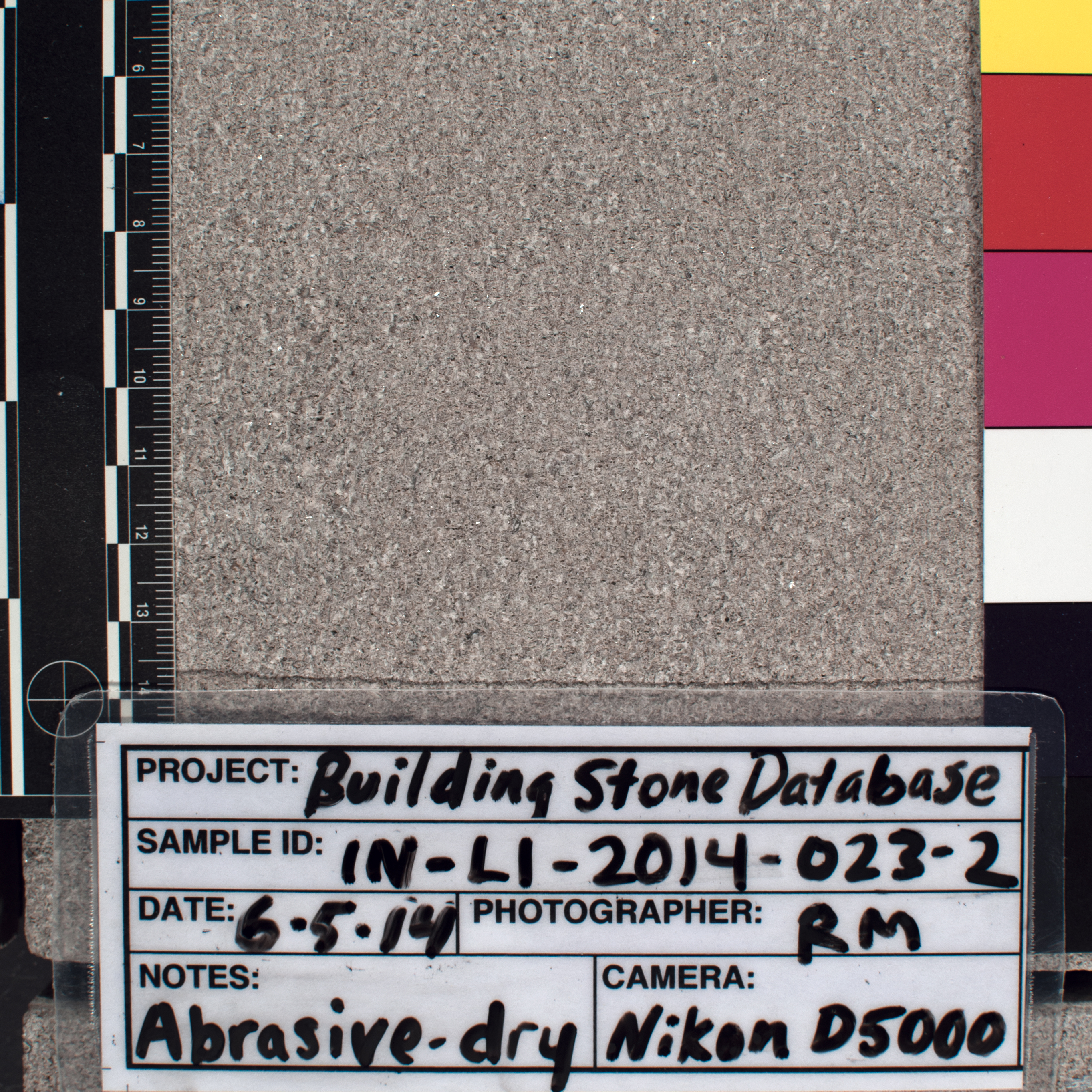 Close-up image of specimen in dry conditions. Finish: Sandblasted