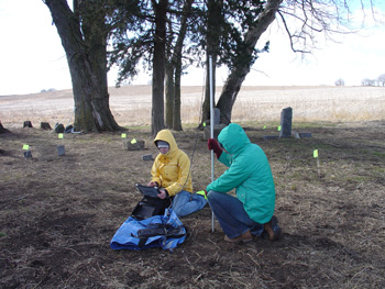 Downhole imaging at the Campbell Cemetery