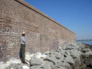 Fort Sumter - NPS intepreter in foreground.