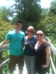 NCPTT interns Paul Cady, Miriam Tworek-Hofstetter, and Stephanie Byrd at the Cypress Island Nature Conservancy. Photo From: Paul Cady