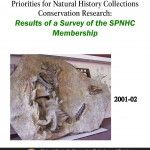 Priorities for Natural History Collections Conservation Research: Results of a Survey of the SPNHC Membership - Document Cover