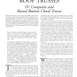 Historic American Roof Trusses: IV. Composite and Raised Bottom Chord Trusses (2004-14):