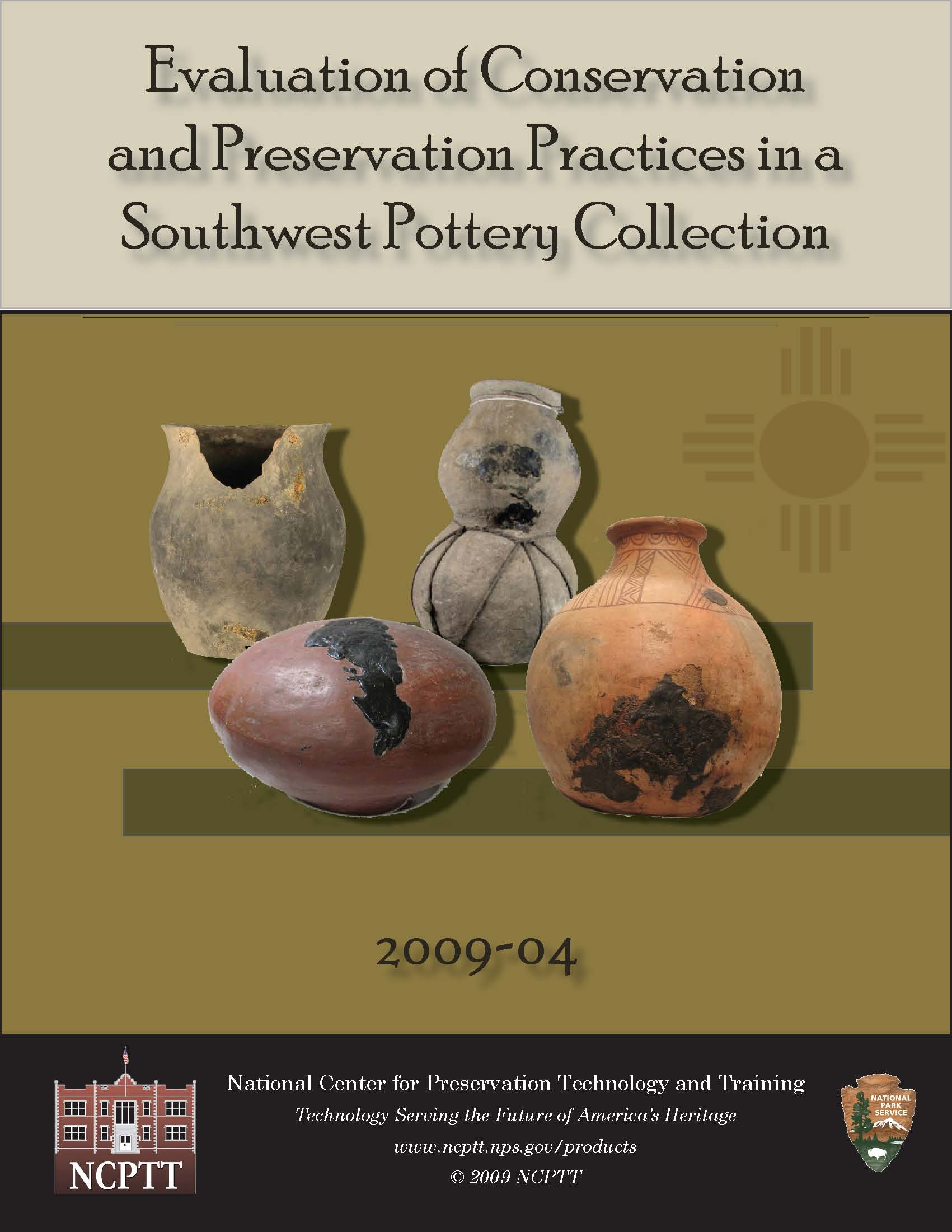 Evaluation of Conservation and Preservation Practices in a Southwest Pottery Collection - Document Cover
