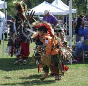 Pow wow dancers in Provencal, LA