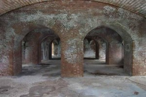 Brick archways in fort jefferson