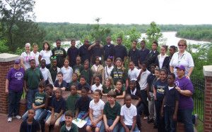 """5th graders from Cloutierville Elementary school participated in the """"Rollin on the River"""" photo scavenger hunt."""