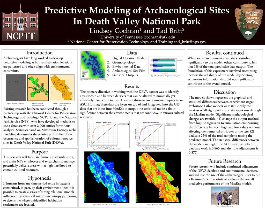 Predictive Modeling of Archaeological Sites In Death Valley National Park