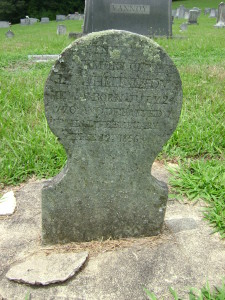 Soapstone marker at Reddies River Cemetery, Wilkes County, NC.