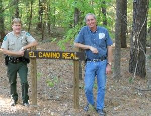 Trail sign with TPWD and NPS Experts