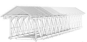 The Harshman Bridge, a Childs truss built by Everett Sherman in 1894, will be featured on the Preble County tour. HAER photo by Jet Lowe.