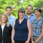 2012 Interns. Back Row: Stanislav Ponomarev, Jorge Rodriguez.  Front row: Laura Lee Worrell, Stacey Urlacher, Jennifer Hay.