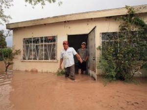 Image of flooding from Hatch New Mexico