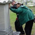 Instructor Fran Gale looks at deterioration issues with participant James Johnson. Photo: Mary Striegel.