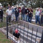 Margo Stringfield leads a tour of historic St.Michael Cemetery, including the unique burial crypts. Photo: Jason Church.