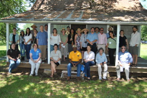 Participants in the NCPE conference enjoyed learning about life on the plantation from former resident, Alvin Shields.