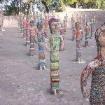 Nek Chand's Rock Garden, bangle ladies, Chandigarh, India.