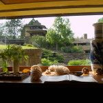 View from window at Frank Lloyd Wright's Taliesin