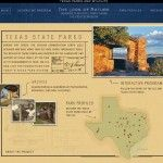 Screenshot of the texascccparks.org website