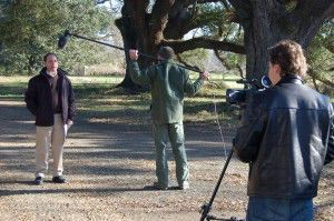 """Filming of the video """"Replacing Trees in Historic Landscapes"""""""