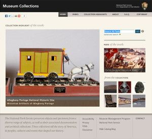 Museum collections in the web catalog.