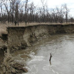 bank erosion on knife river photo courtesy of John Moeykens NPS photo