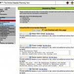 Screenshot: dPlan online disaster collections tool