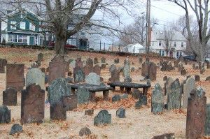 View of the Antientest Burial Ground, New London, Connecticut