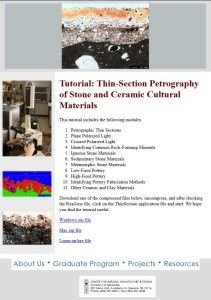 Thin-Section Petrography web-accessible tutorial.