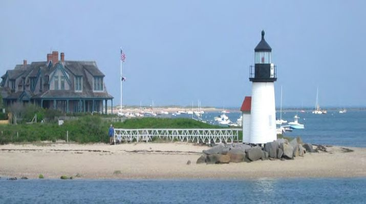 Brant Point Lighthouse (1800 was documented by participants in the Preservation Institute: Nantucket in 1998.