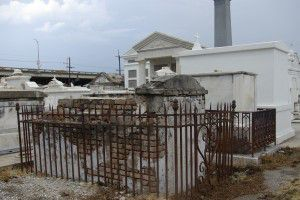 Iron Fence and Ornamentation at St. Louis Cemetery #3