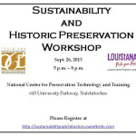 Sustainability and Historic Preservation workshop