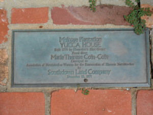 Informational paver at the Yucca House. Photo By: Stephanie Byrd