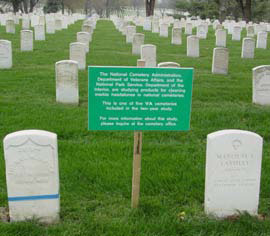 Example of the informational sign placed in each cemetery for the duration of the study.