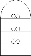 The circles indicate the location where color measurements were taken within each test grid.