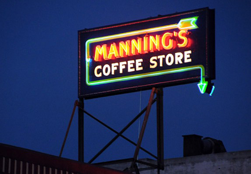 Relighting of Historic Signs of Figueroa Street