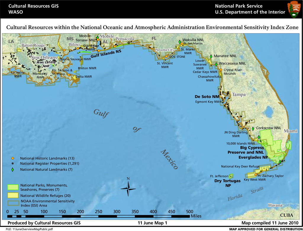 Cultural Resources within the NOAA Environmental Sensitivity Index Zone