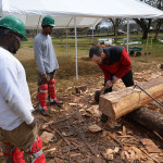 HOPE Crew Youth Preserve Landmark with Assistance from NCPTT: African House timber-framed roof restored