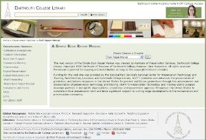 Screenshot of Web Resource