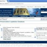 State Historic Preservation Legislation Database (1998-13):