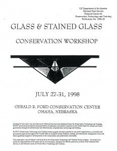 Glass & Stained Glass Conservation Workshop - Document Cover