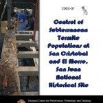 Control of Subterranean Termite Populations at San Cristobal and El Morro, San Juan National Historic Site (2003-01):