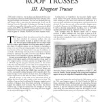 Historic American Roof Trusses: III. Kingpost Trusses (2004-12):