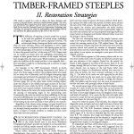 Historic American Timber-Framed Steeples: II. Restoration Strategies (2008-13):