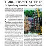 Historic American Timber-Framed Steeples: IV. Reproducing Burned or Destroyed Steeples (2008-15):