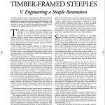 Historic American Timber-Framed Steeples: V. Engineering a Steeple Restoration (2008-16):