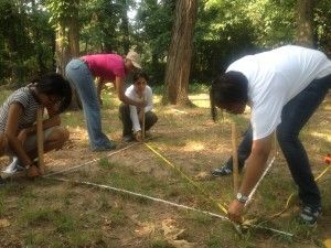 Urban Archeology Corps participants work at Fort Mahan
