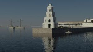 CGI view of the Lanterna. Image courtesy of The Portus Project.