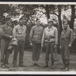 Walker Hancock, Lamont Moore, George Stout and two unidentified soldiers in Marburg, Germany, 1945 June. Photo: Archives of American Art
