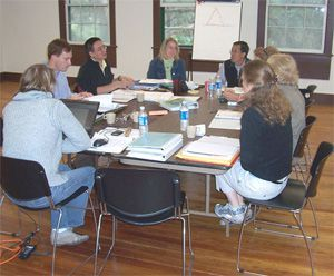 "The ""Applying Heritage Values"" breakout group meets during the Heritage Values Workshop hosted in November 2007 at Cumberland Island Seashore.  Nations represented in this group include the United States, Mexico, Thailand, Australia, Canada, and China."